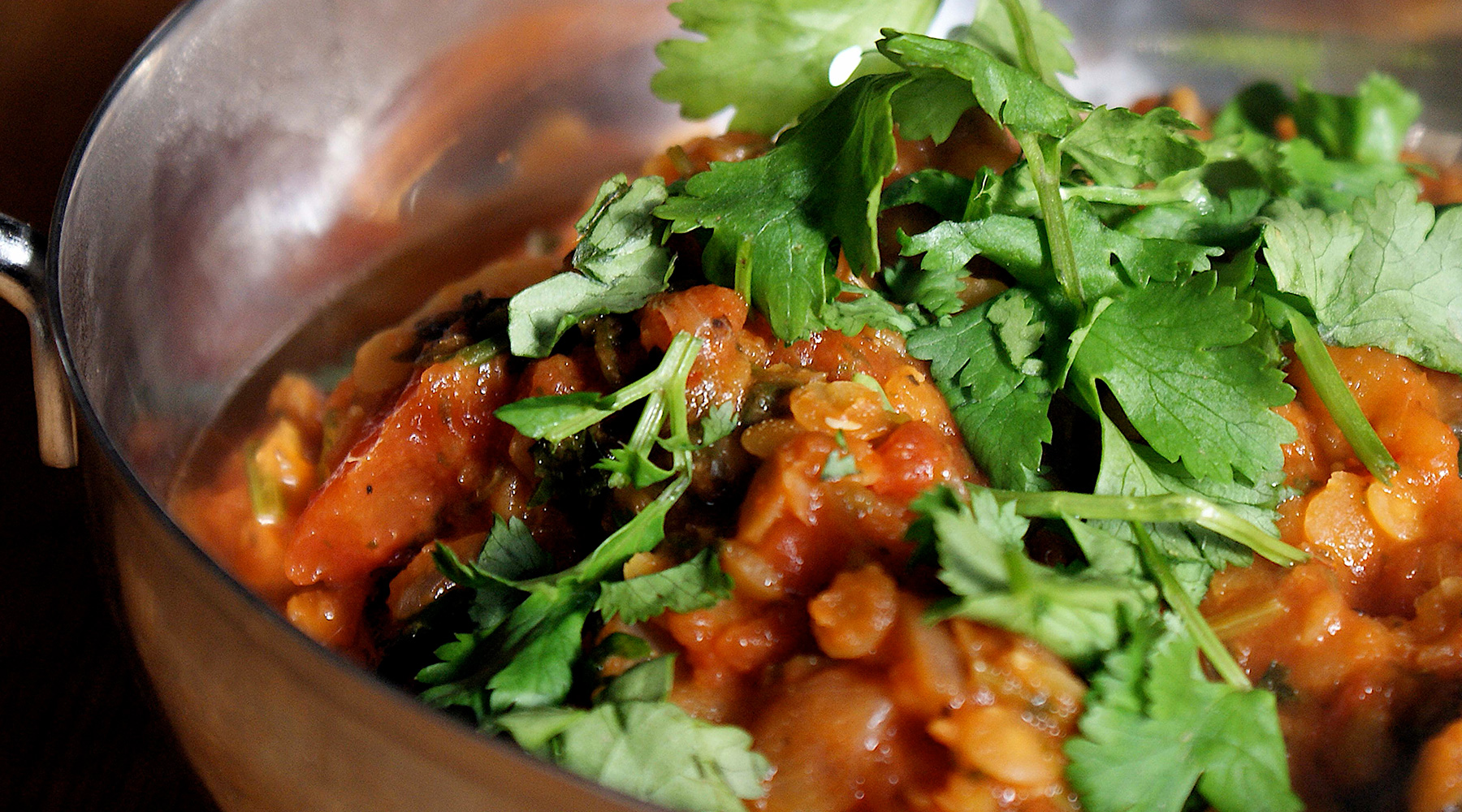 A healthy curry dish. An example of a healthier catering commitment dish.