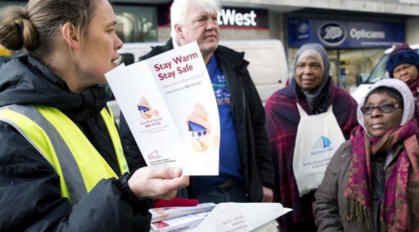Stay warm stay safe outreach team